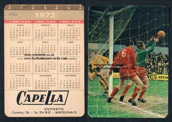 1968 F.A. Amateur Cup Leytonstone v Sutton United at Crystal Palace on a Spanish 1973 calendar card
